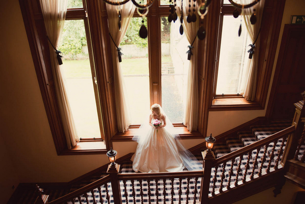 Bride at Kinnettles Castle