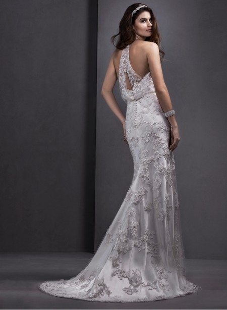 Back of Lorella Wedding Dress - Sottero and Midgley Spring 2015 Bridal Collection