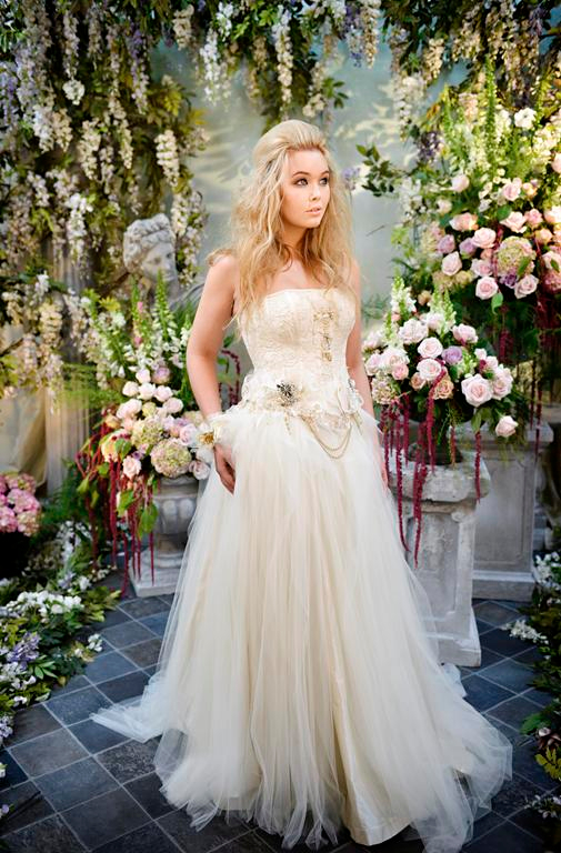 Lovely Lizzie Wedding Dress with Cinderella Skirt - Terry Fox Siren Song 2015 Bridal Collection