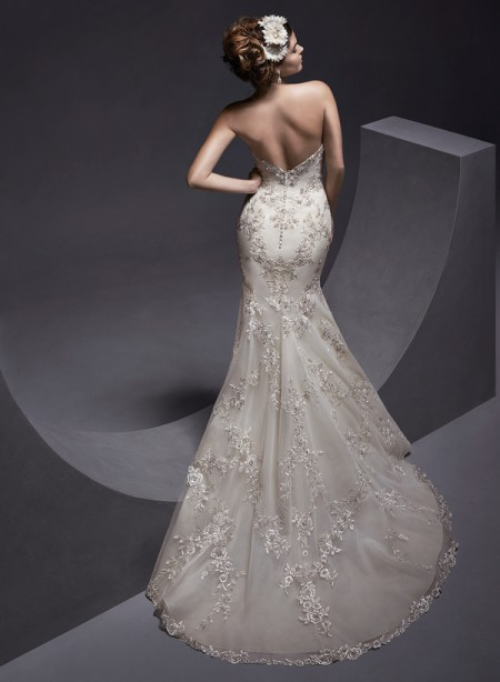 Back of Maddalena Wedding Dress - Sottero and Midgley Spring 2015 Bridal Collection