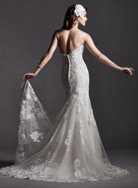 Back of Marlow Wedding Dress - Sottero and Midgley Spring 2015 Bridal Collection