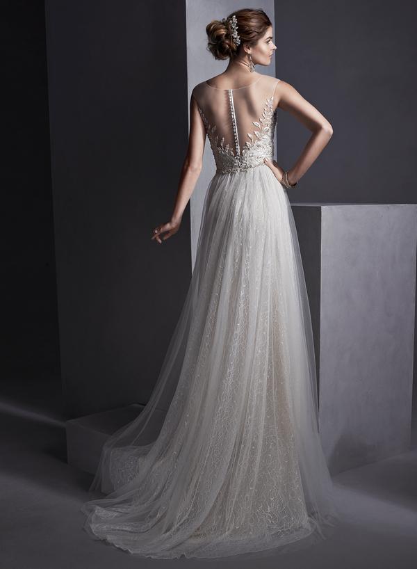 Back of Melinda Wedding Dress - Sottero and Midgley Spring 2015 Bridal Collection
