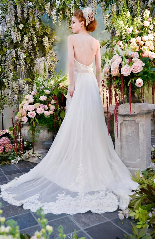 Back of Persephone Wedding Dress - Terry Fox Siren Song 2015 Bridal Collection