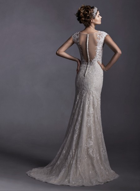 Back of Quinlynn Wedding Dress - Sottero and Midgley Spring 2015 Bridal Collection