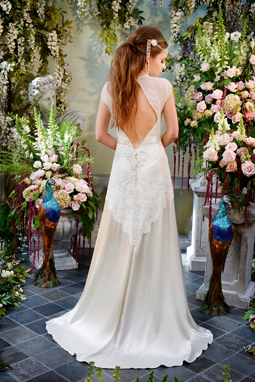 Back of Sea Pearl Wedding Dress - Terry Fox Siren Song 2015 Bridal Collection