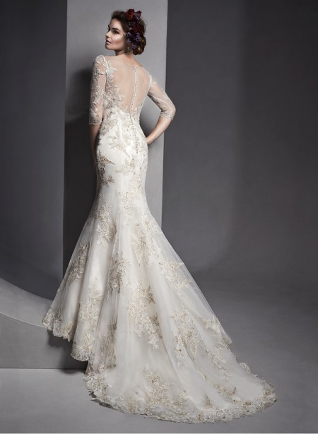 Back of Vivyana Wedding Dress - Sottero and Midgley Spring 2015 Bridal Collection