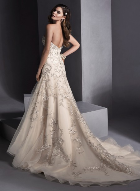 Back of Zariah Wedding Dress - Sottero and Midgley Spring 2015 Bridal Collection