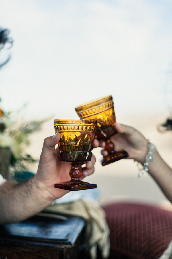 Toasting with goblets