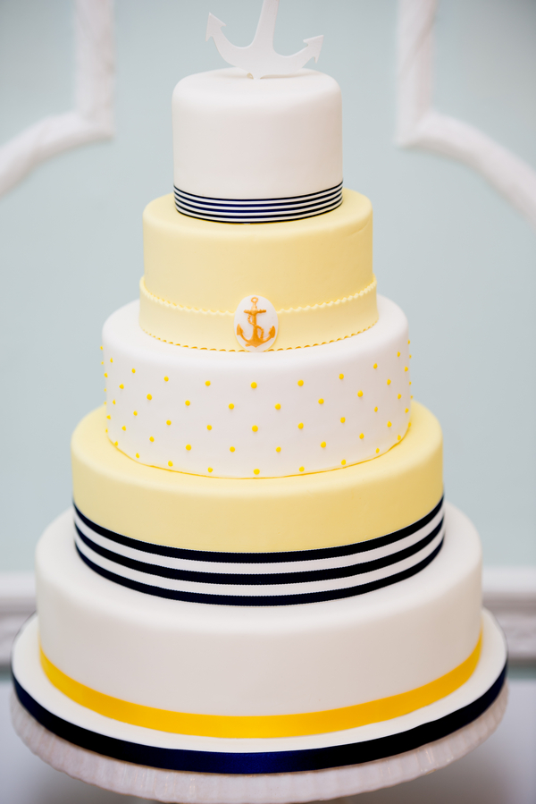 Nautical themed wedding cake