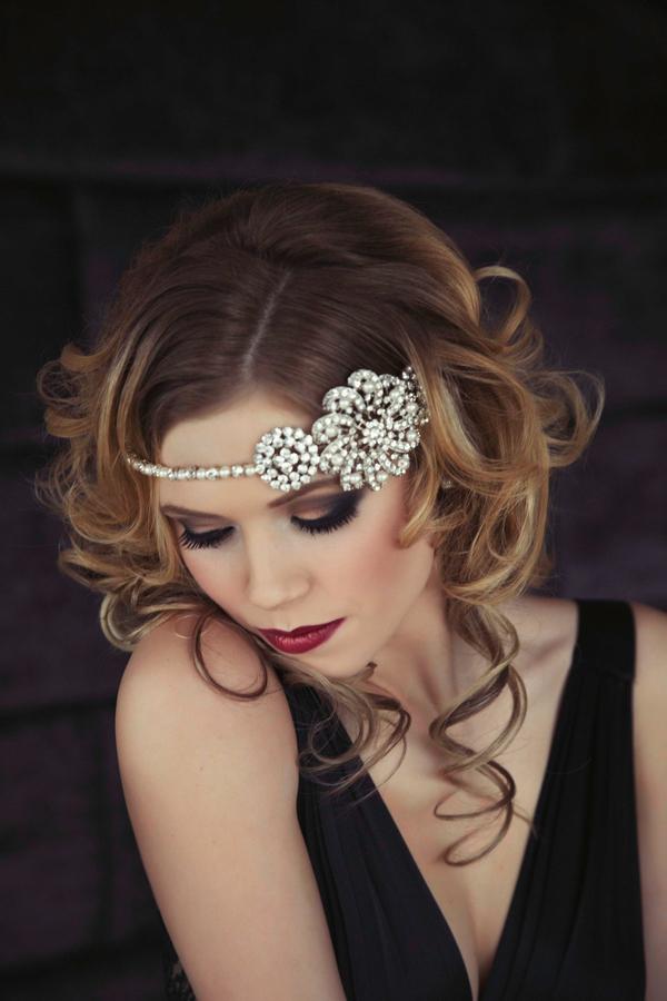 Woman wearing headband - Bridal boudoir shoot