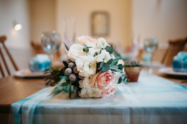 Bouquet on table