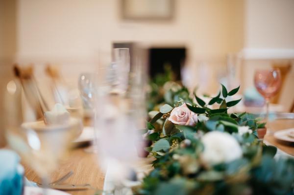 Foliage wedding table centrepiece