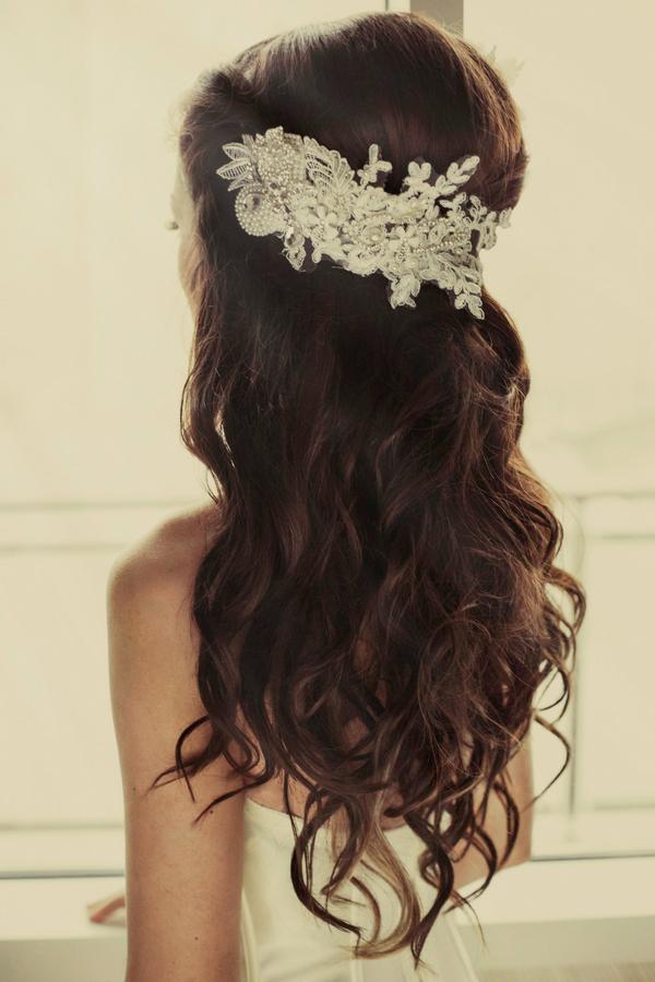 Bridal hairpiece - Bridal boudoir shoot