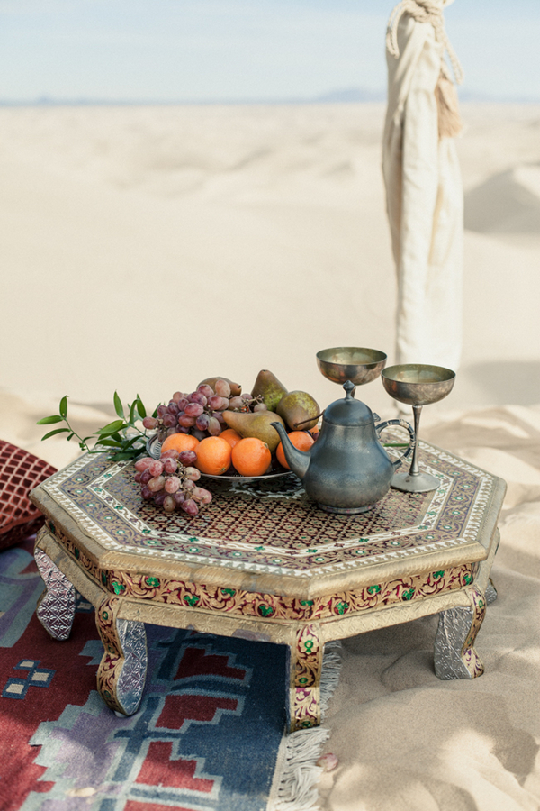 Moroccan table with fruit