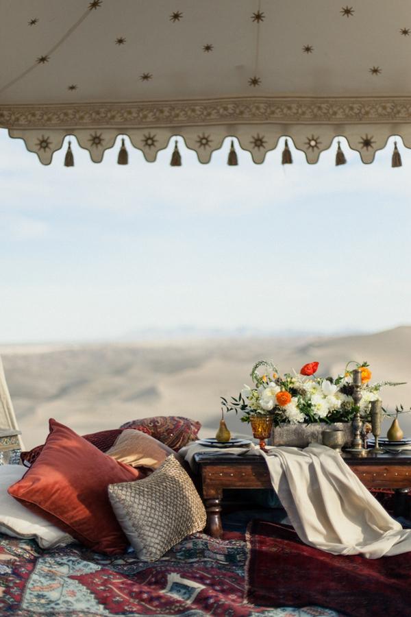 Cushions in Moroccan gazebo