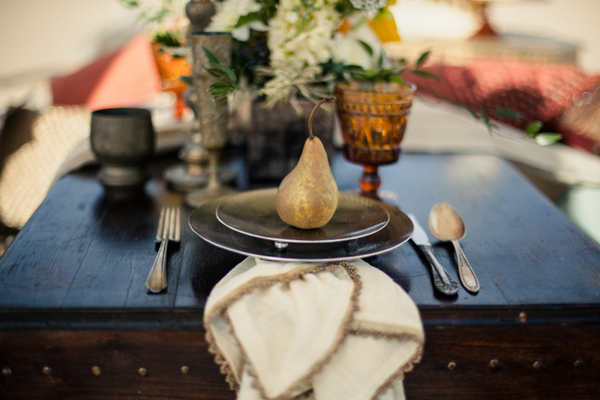 Moroccan style wedding place setting