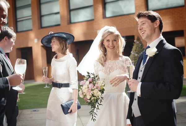 Bride and Groom at Haberdashers' Hall
