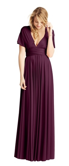Twobirds Bridesmaid Classic Full Coverage Ballgown in Aubergine