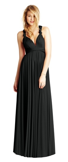 Twobirds Bridesmaid Classic Knotted Tank Ballgown in Black