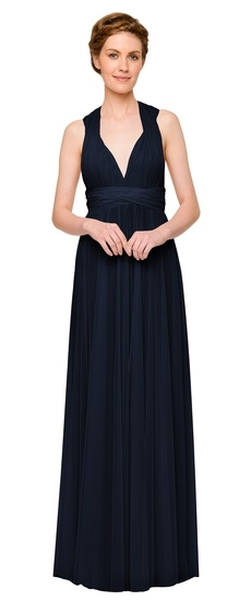 Twobirds Bridesmaid Tulle Cap Sleeve Tank Ballgown in Midnight Blue