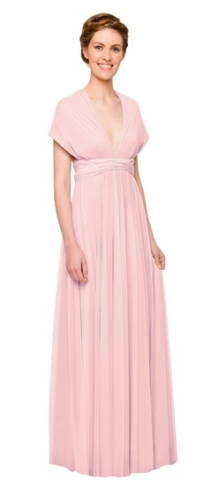 Twobirds Bridesmaid Tulle Full Coverage Ballgown in Petal