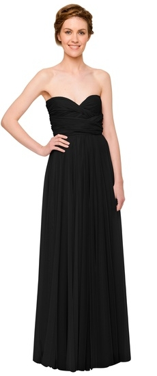 Twobirds Bridesmaid Tulle Strapless Ballgown in Black
