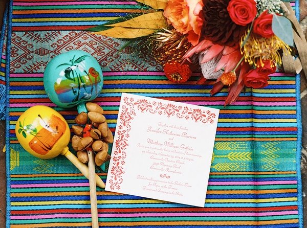 Spanish inspired wedding stationery