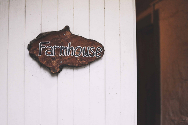 Farmhouse door sign