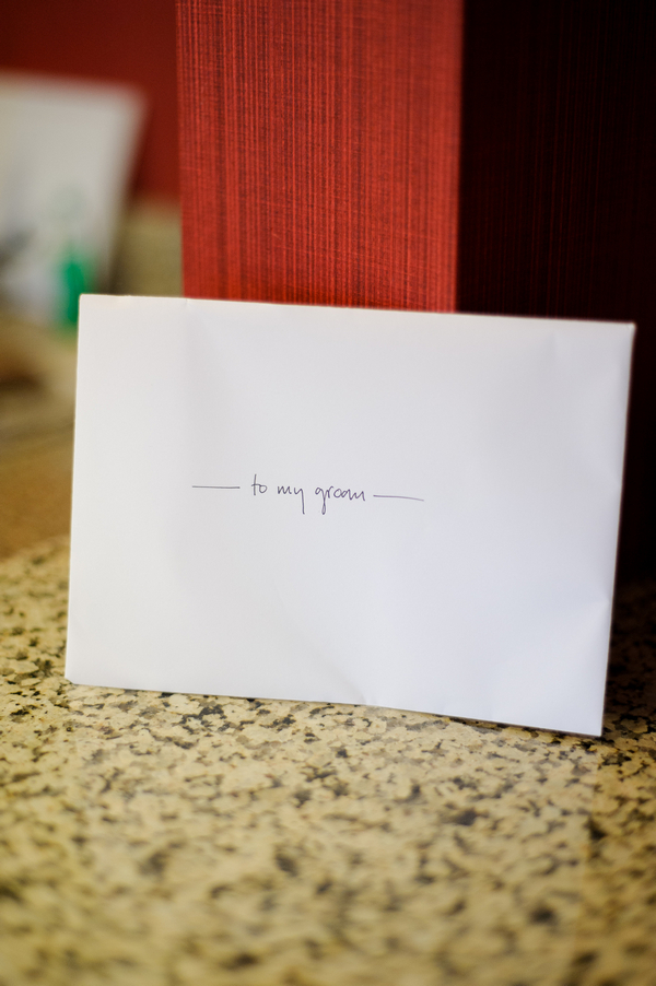 Letter for groom from bride