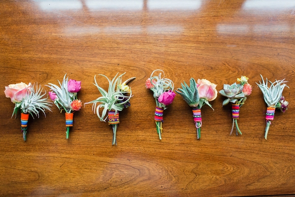 Colourful buttonholes