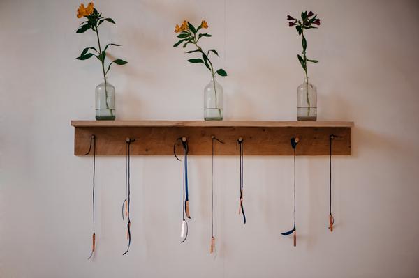 Hanging ribbon wedding seating plan