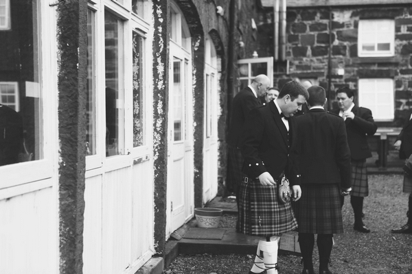 Scottish groomsman