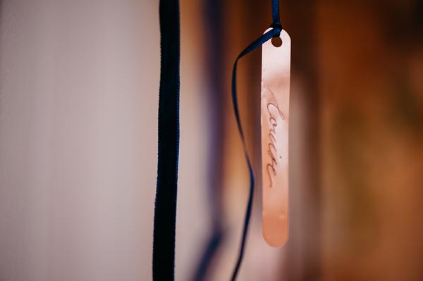 Name tag on ribbon