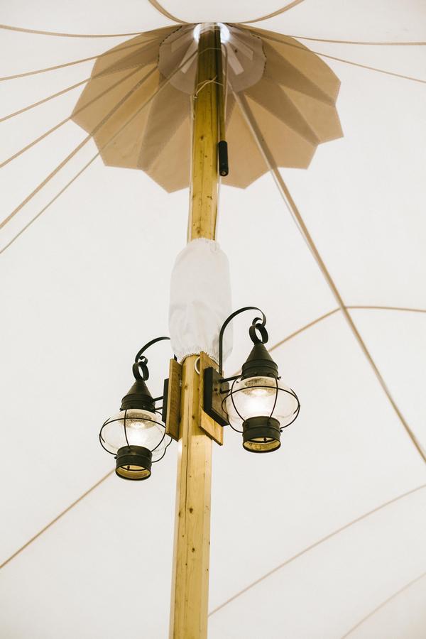 Lanterns on pillar