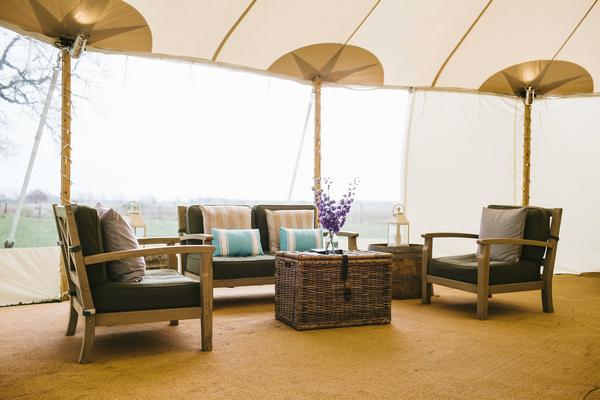 Furniture inside PapaKata tent