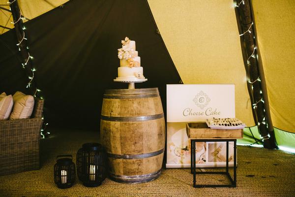 Wedding cake display at PapaKata open weekend