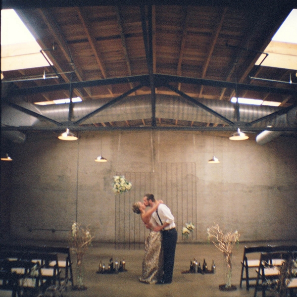 Industrial style wedding ceremony in The Standard in Knoxville