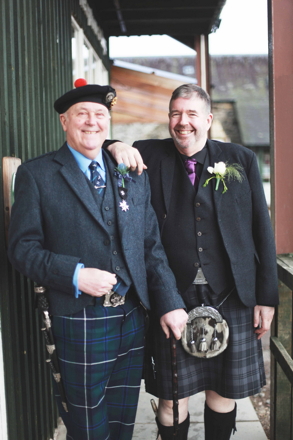 Two men in highland wear