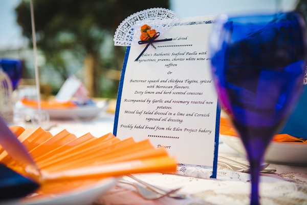 Spanish themed wedding menu