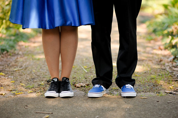 Bride and groom's trainers