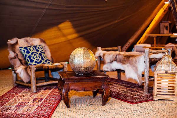 Furniture inside PapaKata Sperry tent