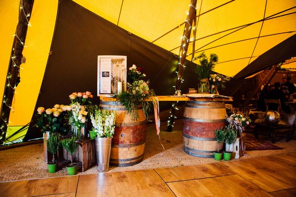 Floral display at PapaKata spring open weekend