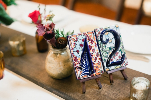 Tile table number