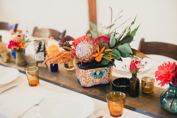 Spanish themed wedding table decorations