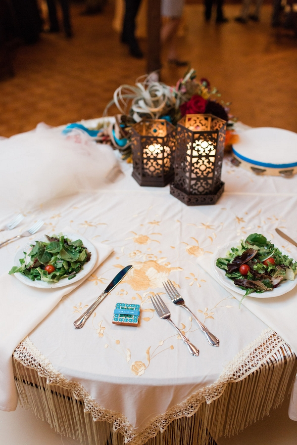 Bride and groom's table