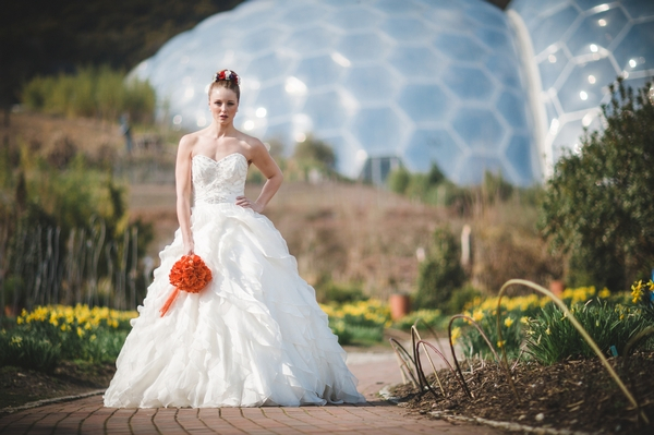 Bride at the Eden Project