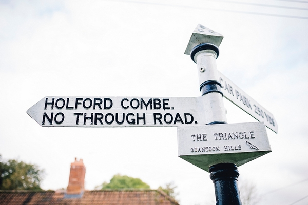 Holford Combe road sign