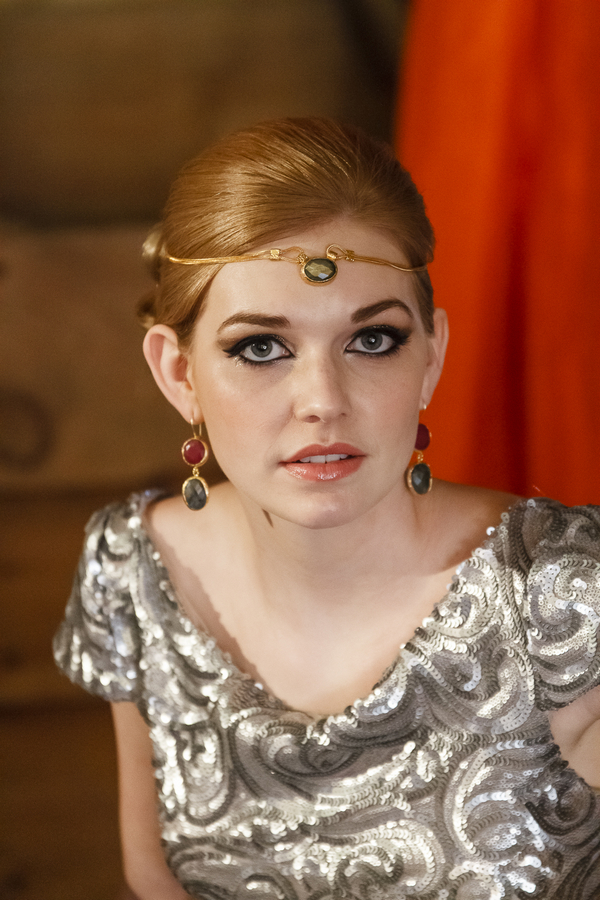 Bride with silver dress and forehead chain