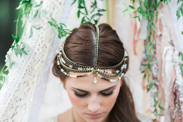 Bohemian bridesmaid's headpiece