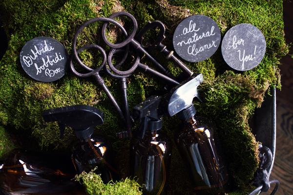 Keys and spray bottles